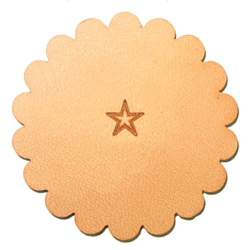 Image of Z609 - Z609 Medium Star Leather Stamp 6609-00