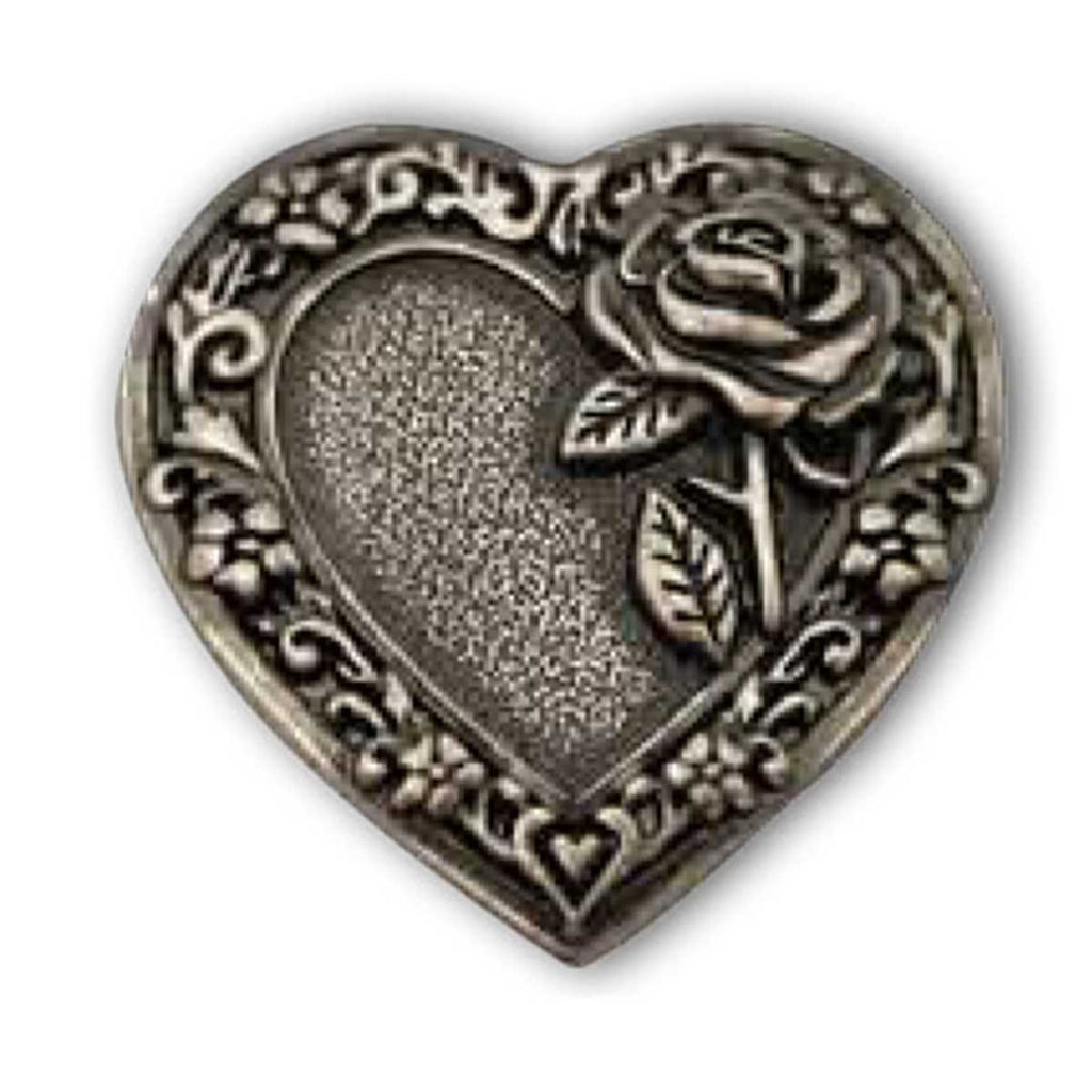 "Heart & Rose Concho 1.25"" (32mm) 202318"