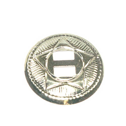 "Star Conchos 1"" Nickel Plated 10/Pk"