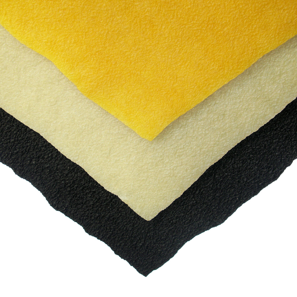 "1/8"" Crepe Rubber - 16"" x 18"" Sheets - 3 Colors"