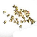 Image of 23610994 - Earring Back Gold - Clutch Bullet 6x5mm - 100 Pack