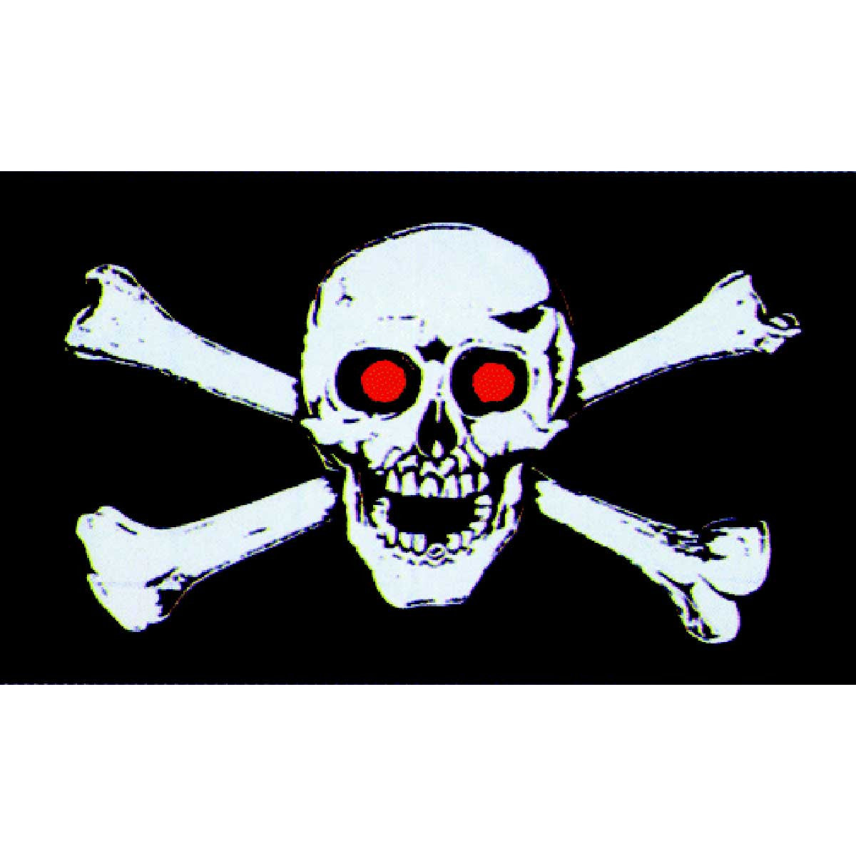 3' X 5' Flag - Pirate with Red Eyes