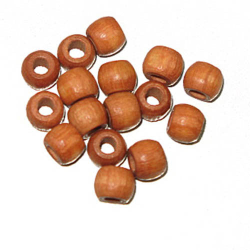 Image of 28615238-01 - Wood Crowbeads 6/4.5mm  2.7 Hole - Lt Brown 11 gms