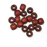 Image of 28615238-02 - Wood Crowbeads 6/4.5mm  2.7 Hole - Mahogany 11 gms