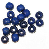 Image of 28615238-09 - Wood Crowbeads 6/4.5mm  2.7 Hole - Blue 11 grams