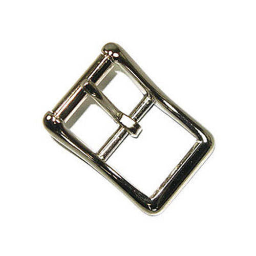 Center Bar Roller Buckle Nickel Plated