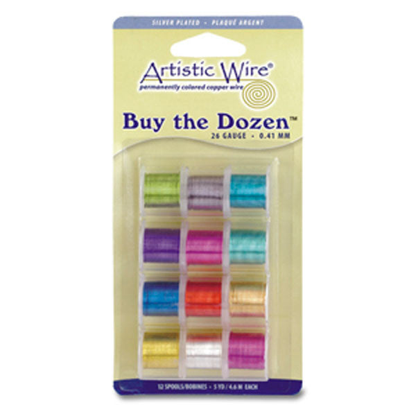 28 Gauge Artistic Wire Buy The Dozen - Silver Plated