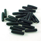 Image of 29816908 - Bone Hairpipe Bead 1 inch Black 100 Pack