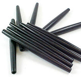 "Image of 29816913 - Hair Bone Pipes Oval Black 4"" - 10Pk"