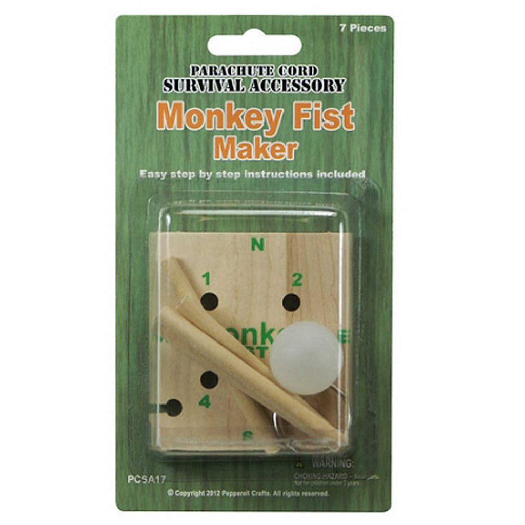 Pepperell Parachute Cord Monkey Fist Maker 7pc PCSA17