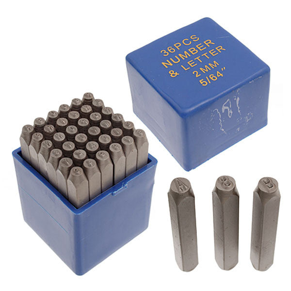 "2mm (5/64"")Metal Stamp Set"