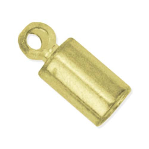 Cord Ends - 2.7mm - Gold Plated