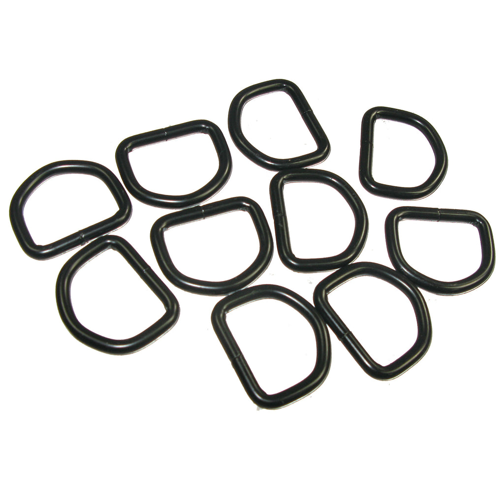"1"" Black Welded D-Ring 10 Pk Gunmetal"