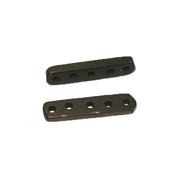 Image of 223930-01 - 30mm Bone Bead Spacer 5-Hole Black 10 pack