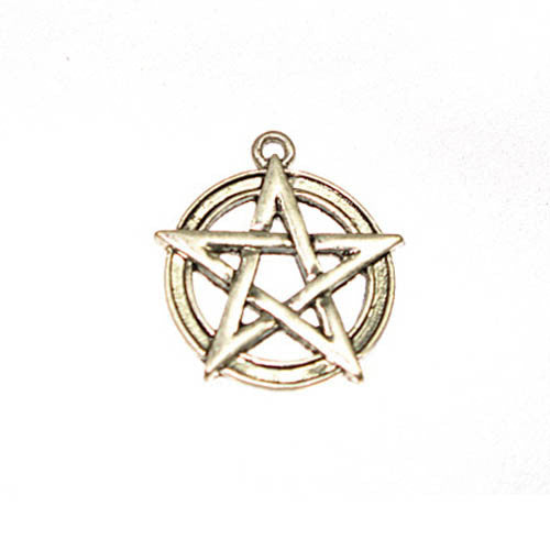 Pentagram Small - Antique Silver - Lead Free