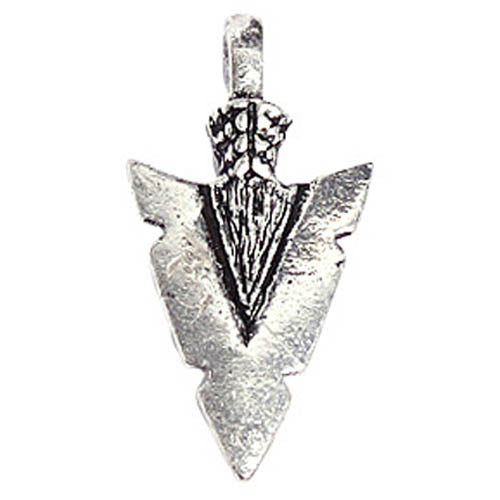 Image of 32628729 - Pendant Arrow 33 x 16mm Antique Silver