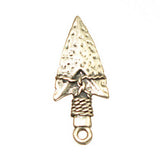 Image of 32629756 - Pendant Arrowhead Matt Silver Lead Free