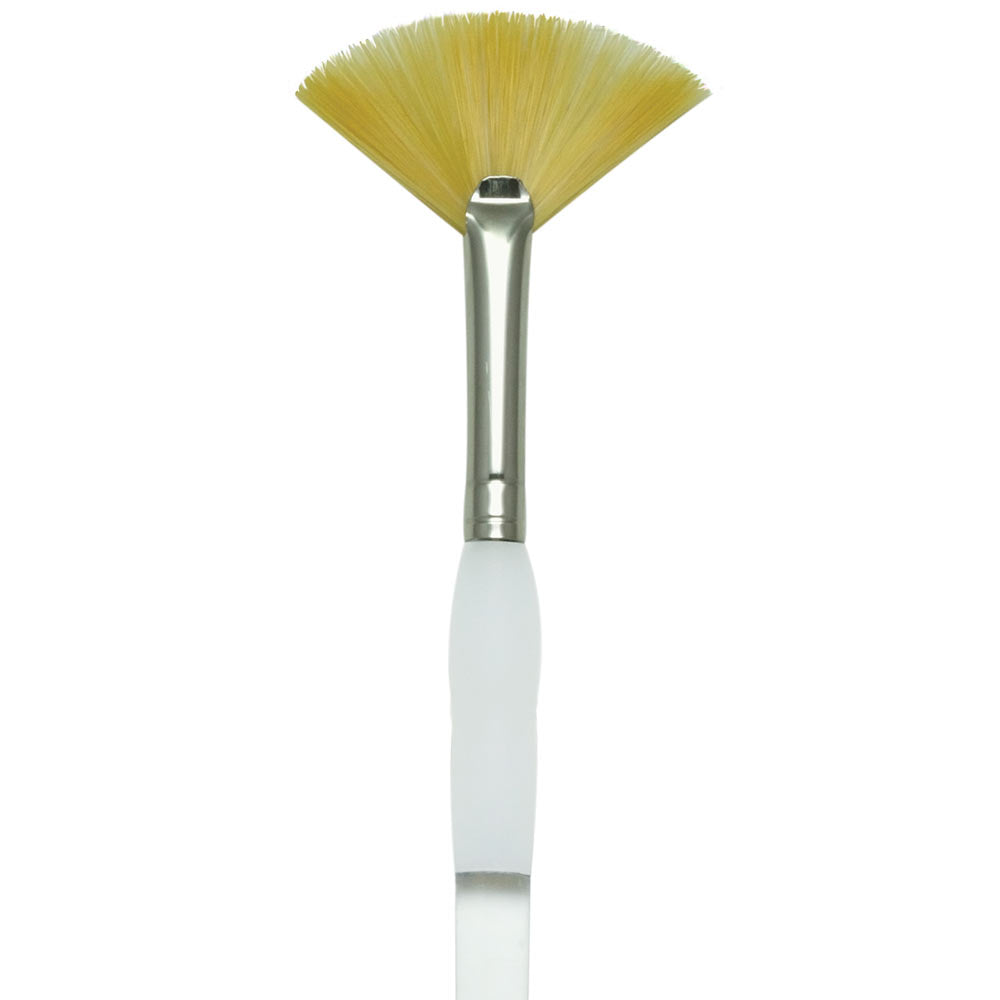 ROYAL BRUSH SG850 Soft Grip Gold Taklon Fan Brush