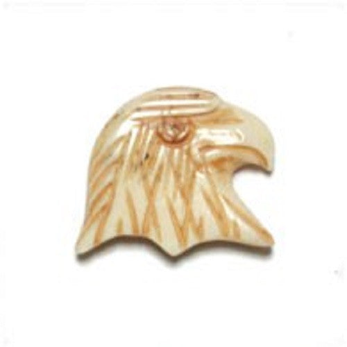 Image of 33801003-5 - Antique Bone Bead Eagle Head