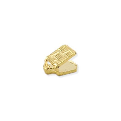 C-Crimp Cord Ends - Gold & Silver Plated