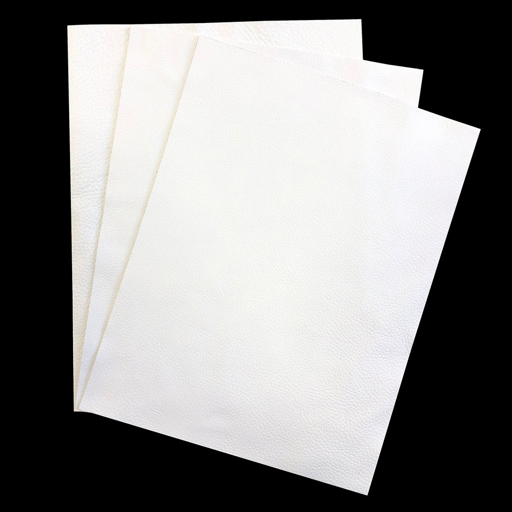 "Delux White Garment Leather 8.5"" x 11"""