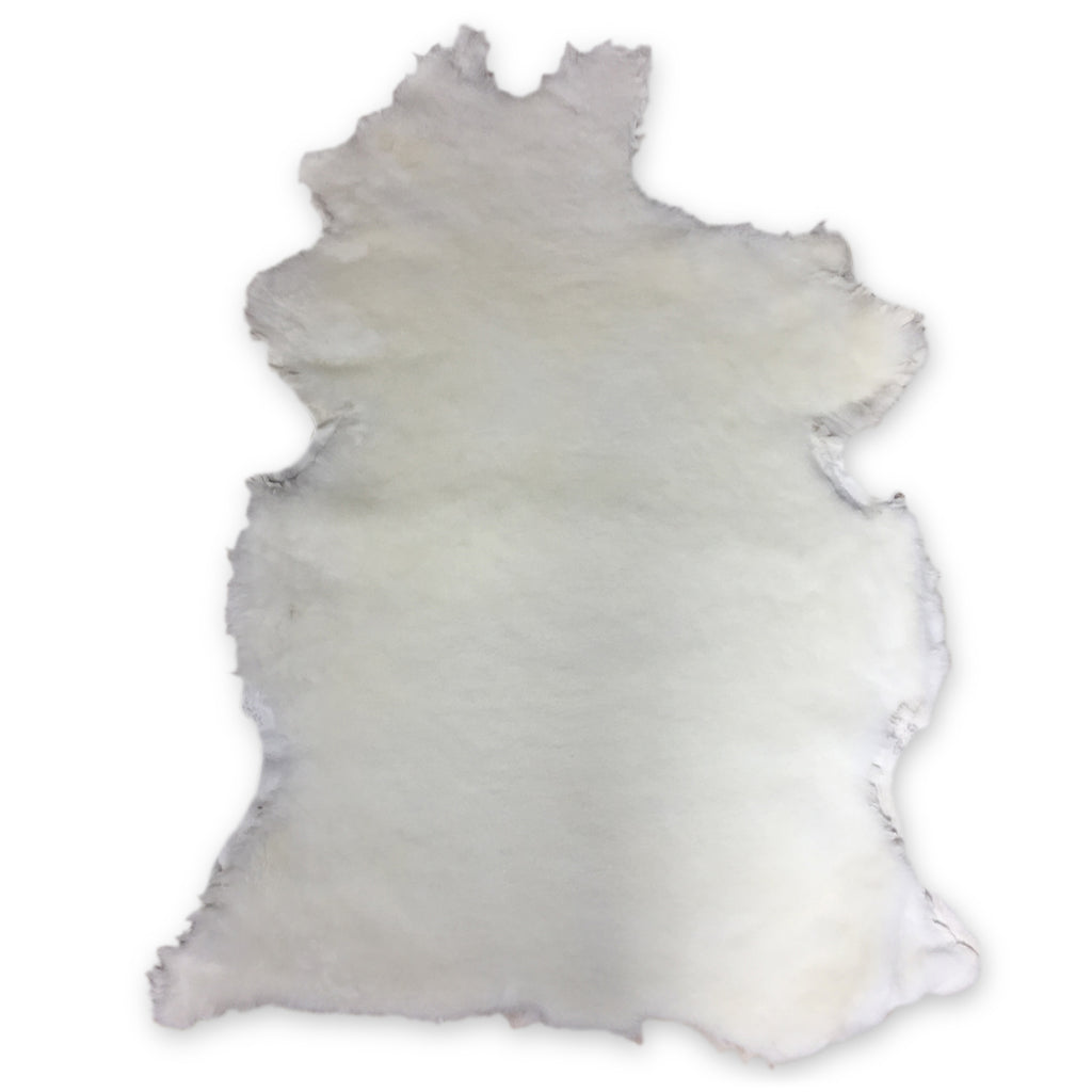 Natural White Shearling Leather Sheepskin Hides Fur Skin Hair On Avg 8.75 Sqft