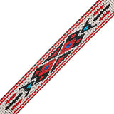 "Image of 73501028-03 - 3/4"" Woven Hitched Webbing Trim - White/Red - 5 Feet"