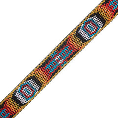 "Image of 73501028-05 - 3/4"" Woven Hitched Webbing Trim - Multi - 5 Feet"