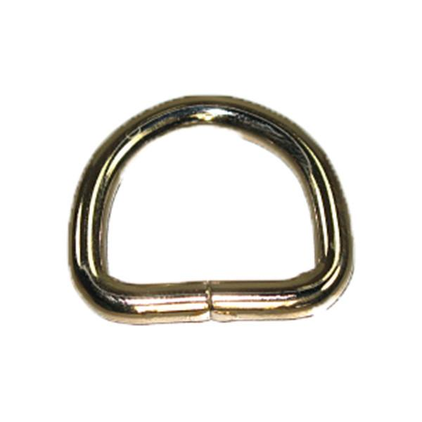"3/4""  Non Welded D Ring Nickel Plated 10 Pack"