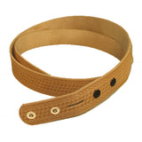 "1-1/4"" Embossed Basketweave Belt Blank 7-8 oz"