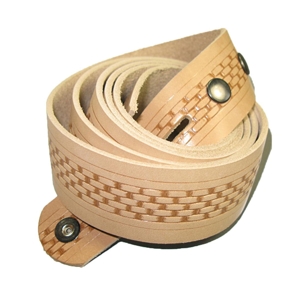 Embossed Basketweave Belt Blank