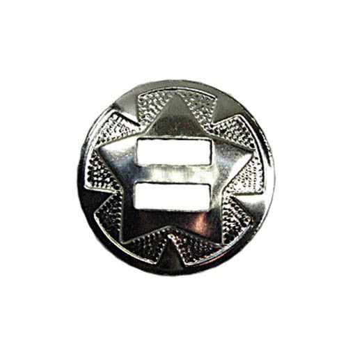 Image of 1320-03 - Star Conchos 42mm Nickel Plated 10Pk