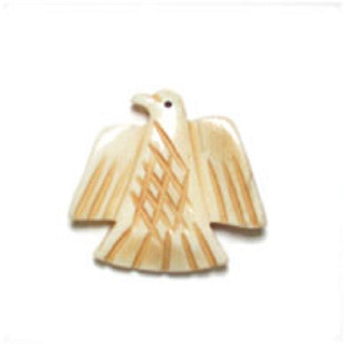 Image of 33801004-1 - Antique Bone Bead Eagle