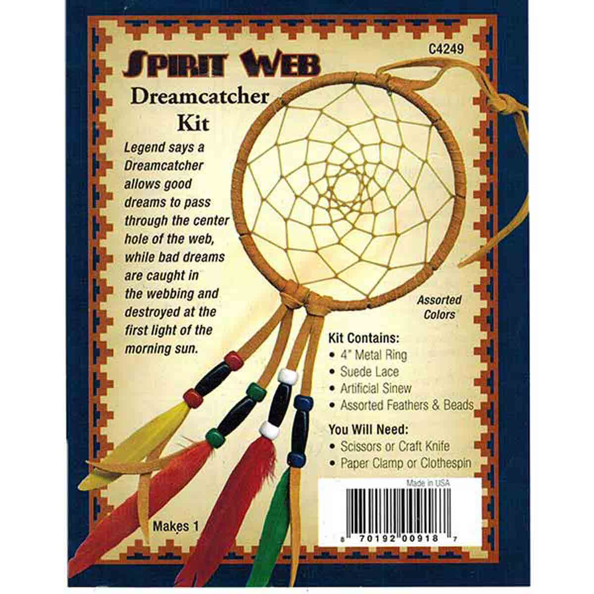 Spirit Web Dreamcatcher Kit 4""