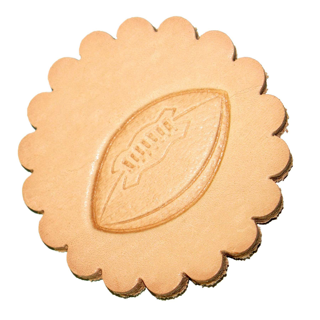 Football 3-D Stamp Leathercraft 8384-00