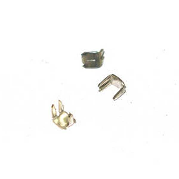 #5C Nylon Top Stops Nickel Light - 3 Prong - 50 Pair
