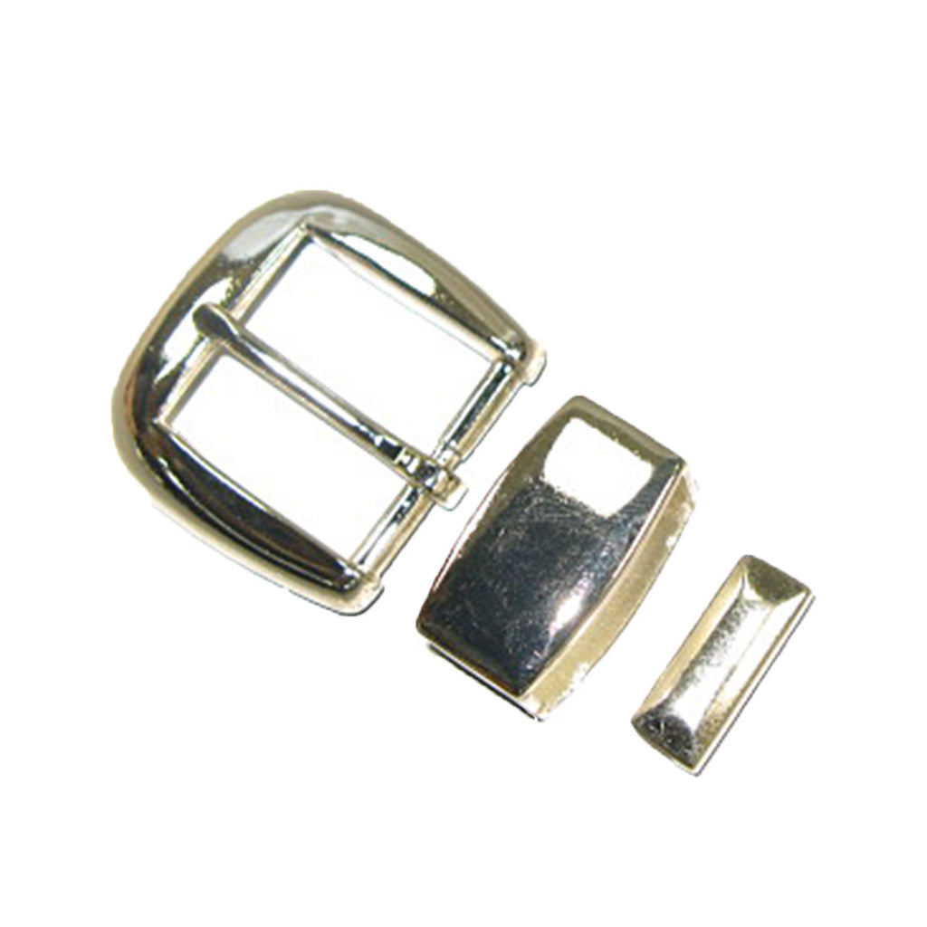 "1"" (25 mm) Simple Silver Buckle Set"