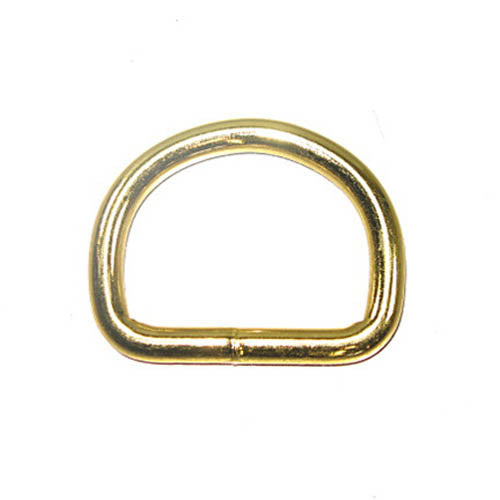 "1-1/2"" D-Ring Brass Plated 10 Pack"