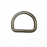 "Image of 61-107171 - 1"" Black 4mm Welded D-Ring 10 Pk"