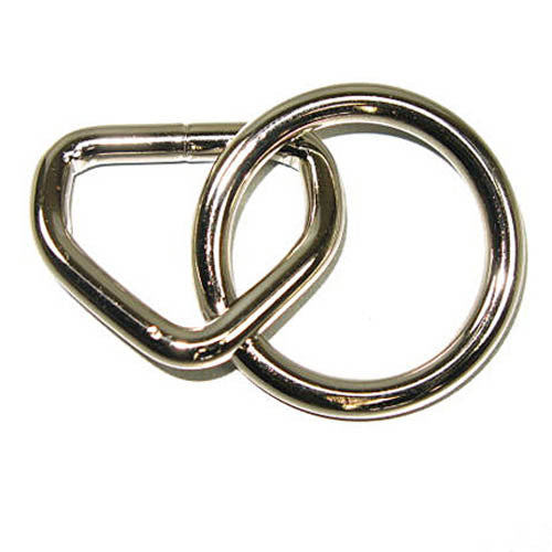 Loop + Ring Nickel Plated - 2 Sizes