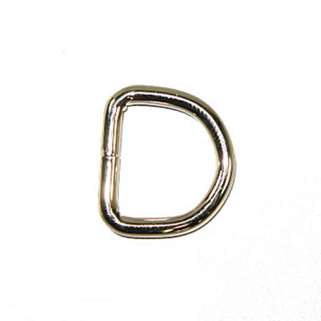 "5/8"" Solid Dee Nickel Plated 10 Pack"