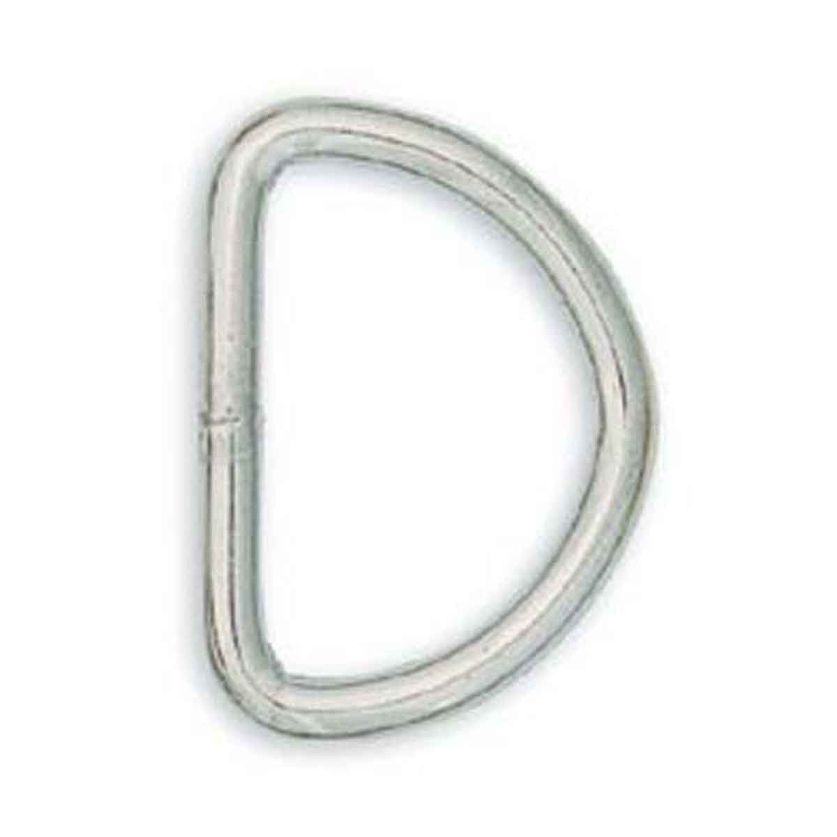 "Solid Dee 1-1/2"" Nickel Plated 10 Pack  1133-12"