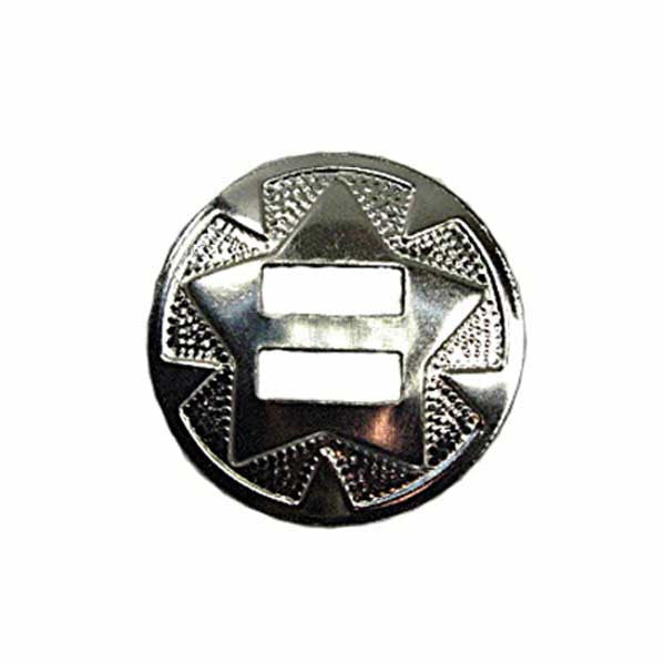 "Image of 1320-02 - Star Conchos 1-1/4"" (3.2cm) Nickel Plated 10Pk"