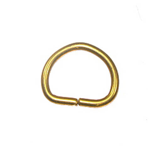 "5/8"" Dee Rings Gilt 10 Pack"