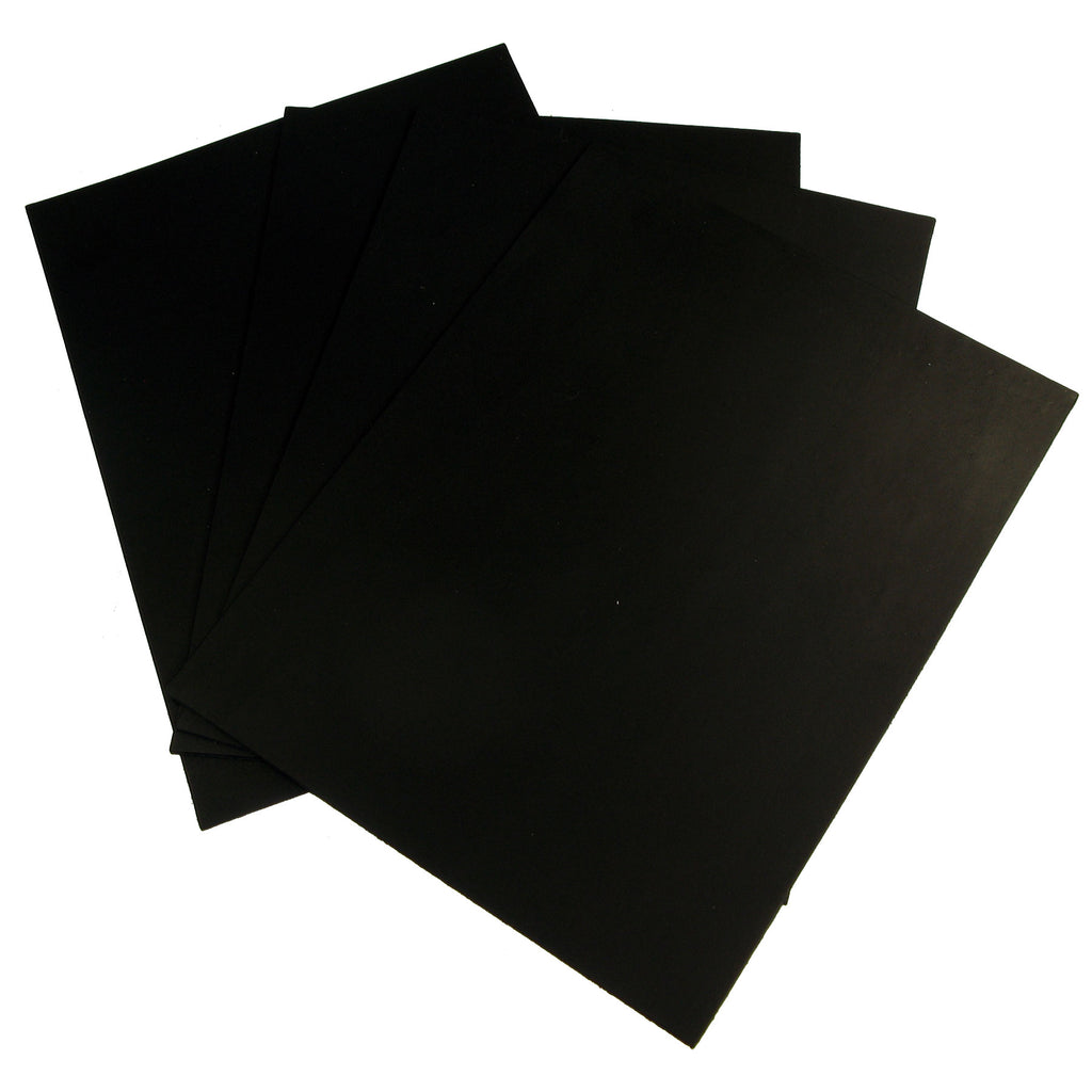 "Black Vegetable Tan Cowhide Tooling Leather 4-5oz Pre-Cut Project Piece 8.5""x11"""