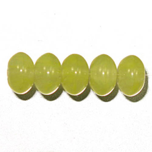 Pressed Glass Beads Flat Round 8mm Mint Green