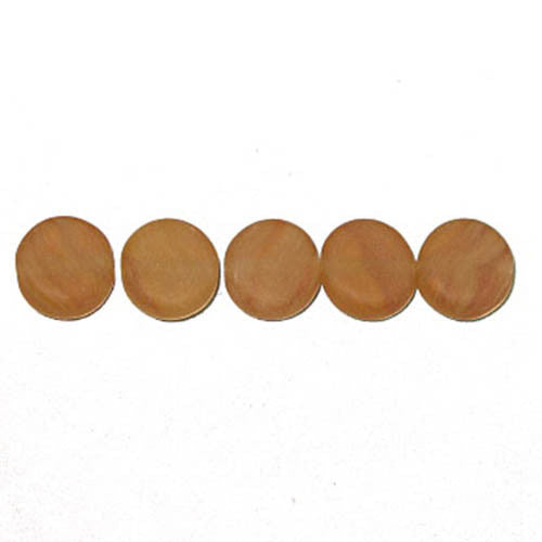 Pressed Glass Beads Flat Rnd 8mm Brown Stripe Matt