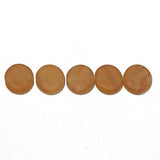 Image of 63097002-25 - Pressed Glass Beads Flat Rnd 8mm Brown Stripe Matt