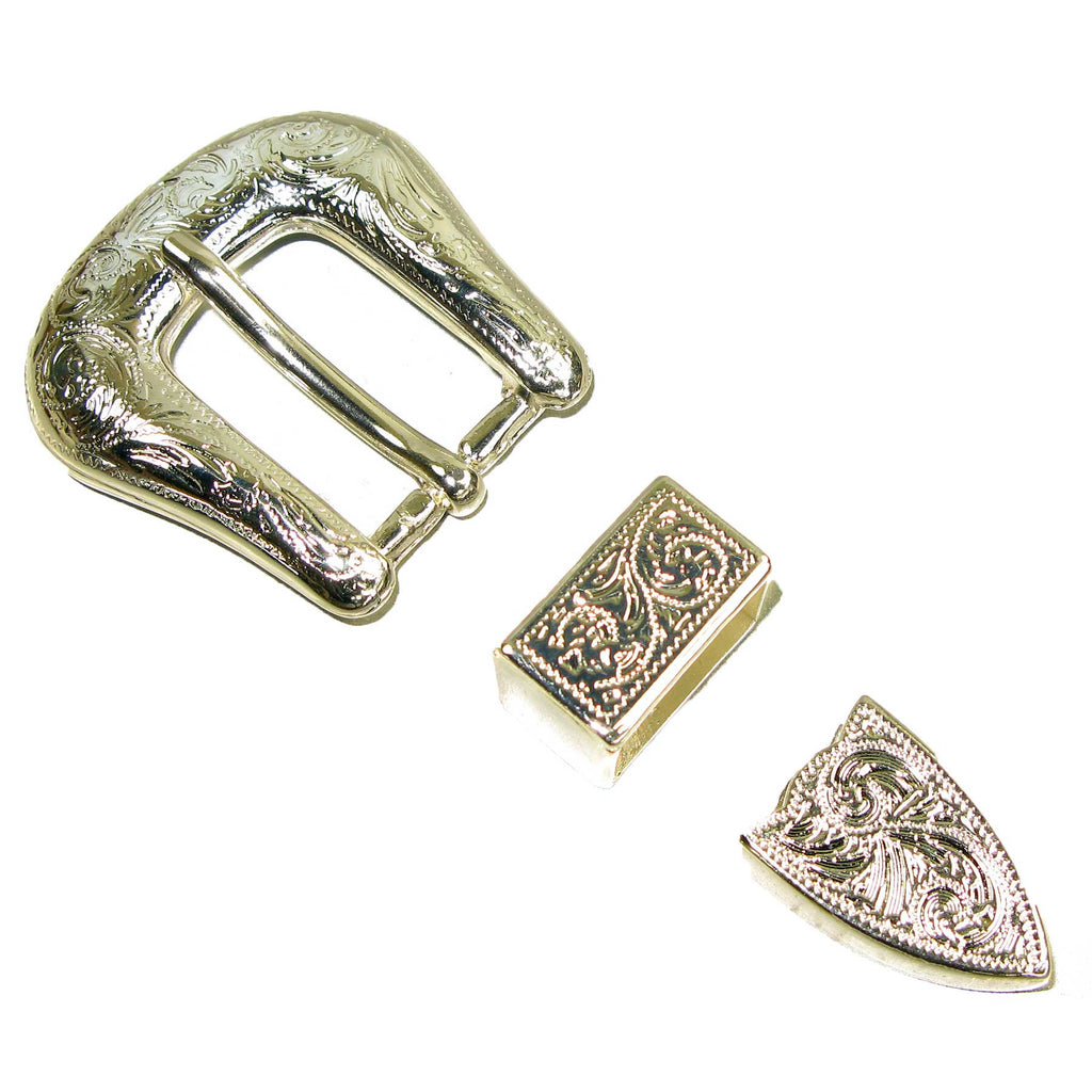 "Traditional Buckle Set 3/4"" 3 Piece Set Nickel"
