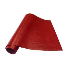 "Pre-Cut Red Cowhide Leather Project Piece 12"" x 24"" 3oz 1.2mm"
